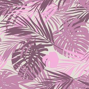 Klein & Stoer Bladeren Behang roze, 96 x 280 cm