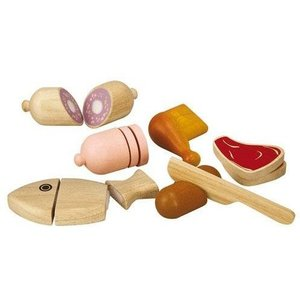 PlanToys Houten vis en vlees set