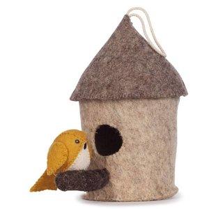 KidsDepot Mus vogelhuisje , vilten decoratie