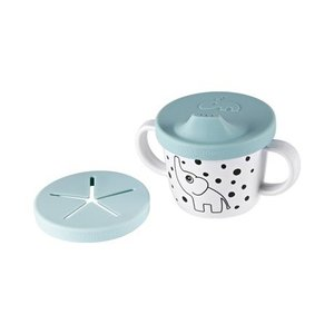 Done by Deer Spout en snack beker blauw