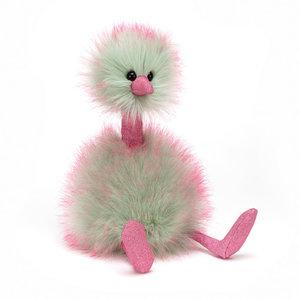 Jellycat Knuffelstruisvogel mint