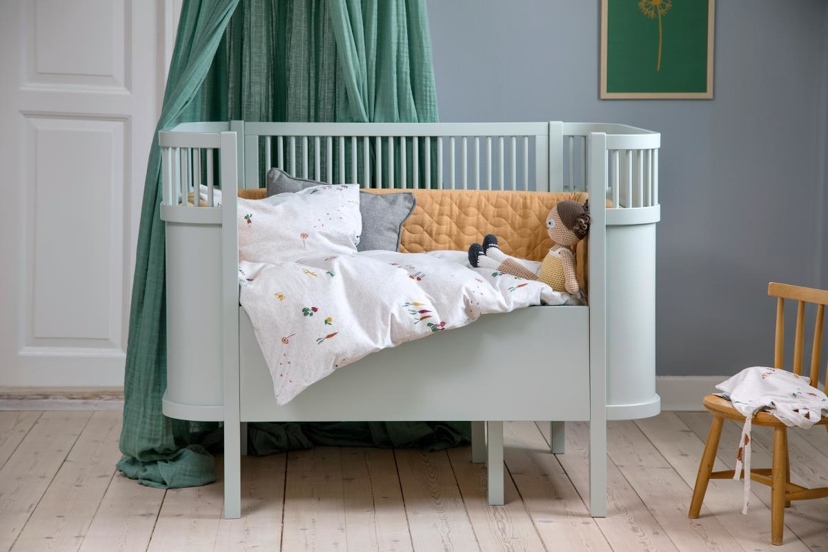 Tienerbed Incl Matras.Sebra Kili Baby En Junior Bed In Het Misty Green Incl Matras