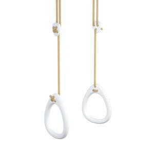 Lillagunga Witte houten turnringen beige touw