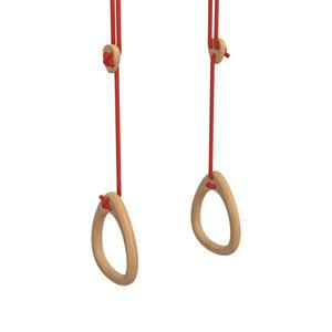 Lillagunga Houten turnringen rood touw