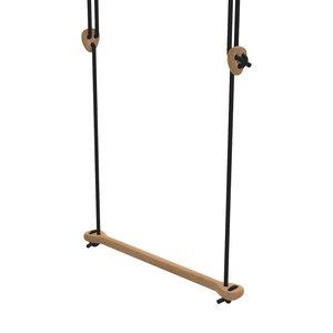 Lillagunga Houten trapeze zwart touw