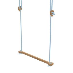 Lillagunga Houten trapeze lichtblauw touw