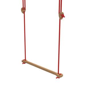 Lillagunga Houten trapeze rood touw
