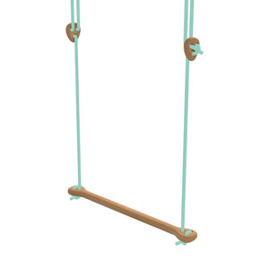 Lillagunga Houten trapeze mint touw
