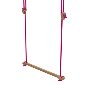 Lillagunga Houten trapeze fuchsia touw