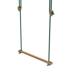 Lillagunga Houten trapeze groen touw