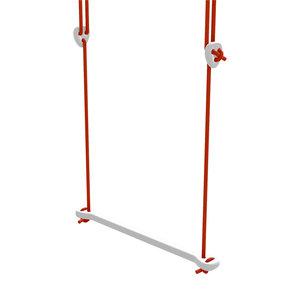Lillagunga Witte houten trapeze rood touw