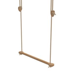 Lillagunga Houten trapeze beige touw