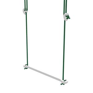 Lillagunga Witte houten trapeze groen touw