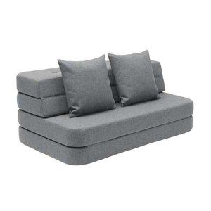 by Klip Klap 3 fold sofa blauw grijs