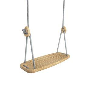 Lillagunga Houten schommel grijs touw