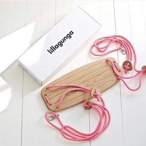 Lillagunga Houten schommel roze touw