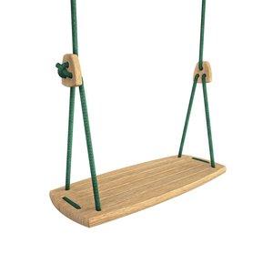 Lillagunga Houten schommel groen touw