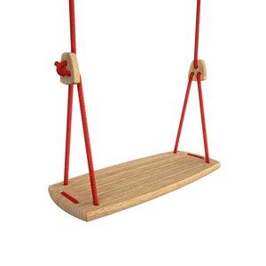 Lillagunga Houten schommel rood touw