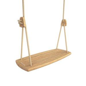 Lillagunga Houten schommel beige touw