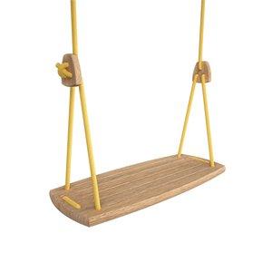 Lillagunga Houten schommel geel touw