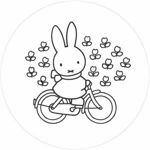 Kek Amsterdam Behangcirkel Nijntje op de fiets