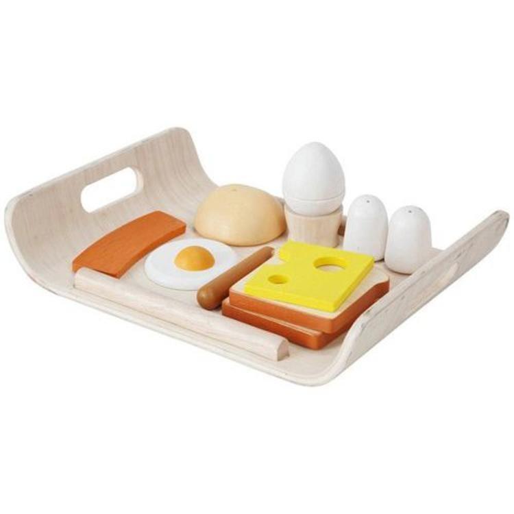 houten ontbijtset als speelgoed van plantoys