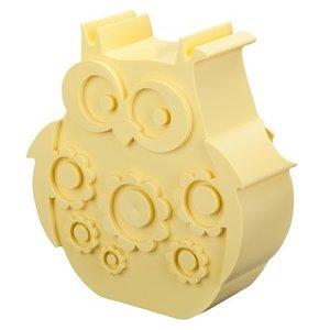 Blafre Lunchbox uil licht geel