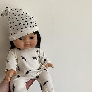 Minikane & Paola Reina Pyjama veertjes met mutsje voor poppen