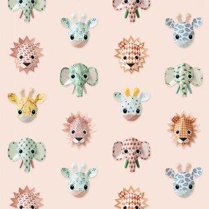 Studio ditte Wilde dieren behang roze