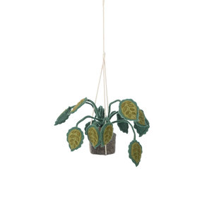 KidsDepot Big leaves , hangende vilten decoratie plant