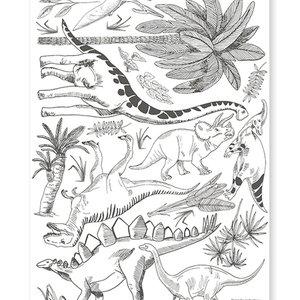 Lilipinso Dinosaurus muursticker A3