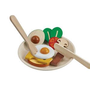 PlanToys Houten ontbijt menu