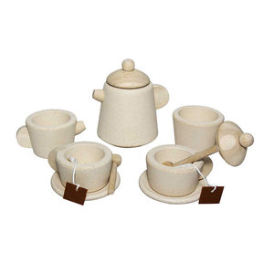 PlanToys Houten thee servies naturel