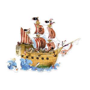 Janod Puzzel piratenschip 4 - 7 jaar (39 stukjes)