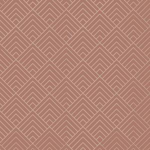 Klein & Stoer Art deco lijnen patroon behang roze, 96 x 280 cm