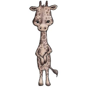 Stick Stay Giraffe muursticker (herbruikbaar)