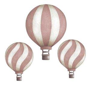 Stick Stay Luchtballonnen muurstickers roze (herbruikbaar)