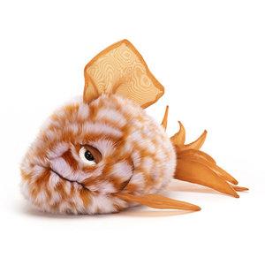 Jellycat Knuffel Grumpy vis