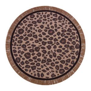 Tapis Petit Vloerkleed round leopard