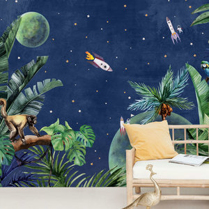 Creative lab amsterdam From jungle to space Behang Mural