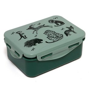 Petit Monkey lunchbox black animals