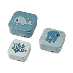 Done by Deer Snackbox sea friends blauw