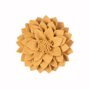 KidsDepot Kuba vilten decoratie bloem beige
