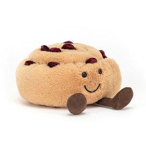 Jellycat Knuffel rozijnen broodje