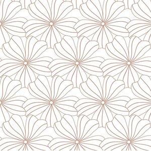 Swedish Linens Hoeslaken bloemen wit met roze (200 x 90 cm)