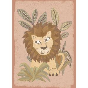 Klein & Stoer Poster leeuw