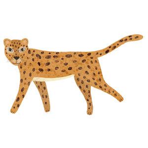 Klein & Stoer Muursticker luipaard  (herbruikbaar)