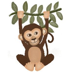 Klein & Stoer Sticker aap (herbruikbaar)