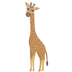Klein & Stoer Muursticker giraffe  (herbruikbaar)