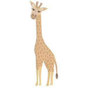 Klein & Stoer Muurticker giraffe  pastel (herbruikbaar)